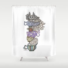 Owlice Wants Another Cup of Tea Shower Curtain
