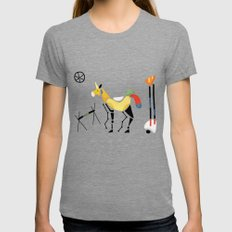 Surrealist Unicorn Womens Fitted Tee LARGE Tri-Grey