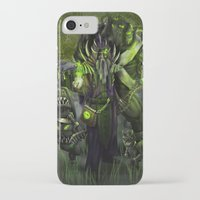 minions iPhone & iPod Cases featuring A Warlock and His Minions by Mike Shachook