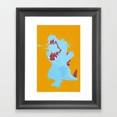 Totodile Splat Framed Art Print