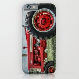 Vintage IH Farmall 450 Side View Red Tractor iPhone Case