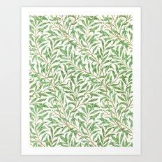 Willow Bough Printed Wallpaper, William Morris, 1887 Art Print