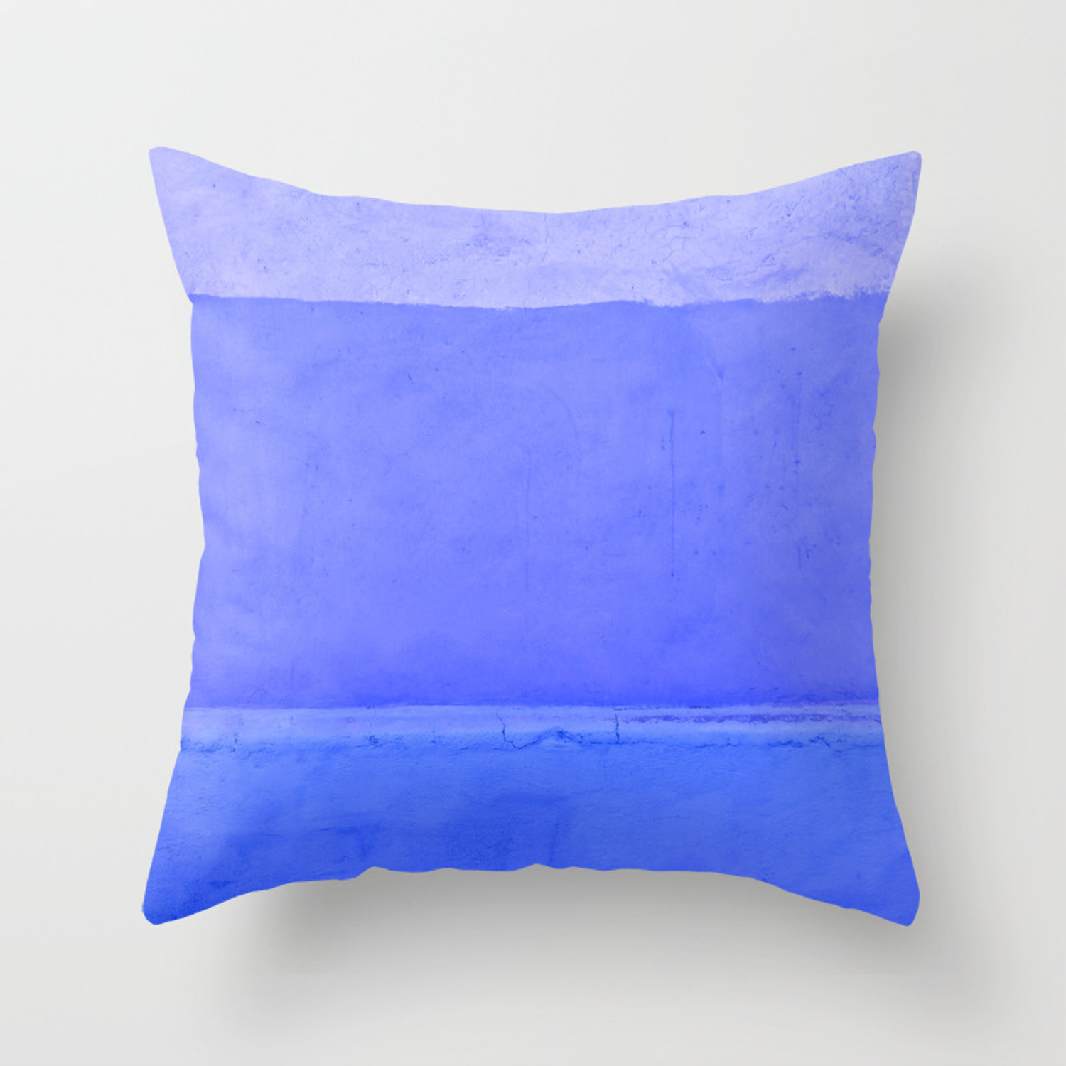 Blue City Of Chefchaouen In Morocco Throw Pillow By Popartimages Society6