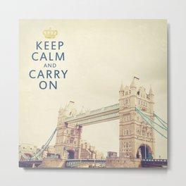 Keep Calm London Metal Print