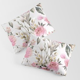 Roses and Wild Flowers Pillow Sham