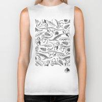 dinosaurs Biker Tanks featuring Dinosaurs by La Lucha Eterna Custom Tattoo