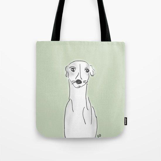 Daisy, the Greyhound Tote Bag