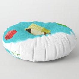 Turban Floor Pillow