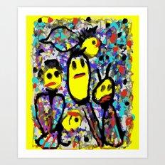 Spotlights Art Print