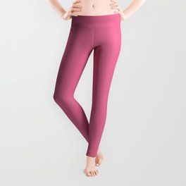 Cheapest Solid Deep Blush Red Pink Color Leggings