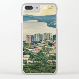 Aerial View of Guayaquil from Window Plane Clear iPhone Case