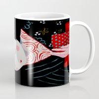 geisha Mugs featuring Geisha by Maripili