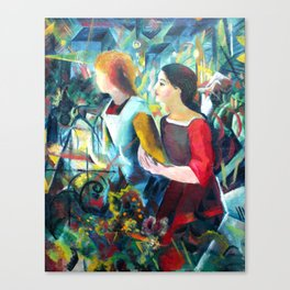 "August Macke ""Two Girls"" Canvas Print"