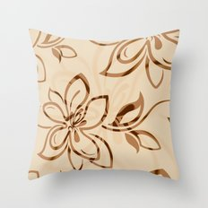Brown Garden Throw Pillow