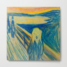 "Edvard Munch ""The Scream"" (1893)(pastel) Metal Print"
