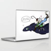 hiccup Laptop & iPad Skins featuring Hiccup, Jack, and Toothless by Gio Garcia