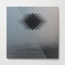 Minimalistic forms floating over mystic waters Metal Print