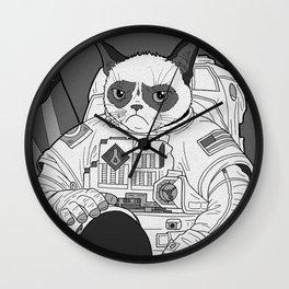 The Grumpiest Astronaut Wall Clock
