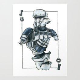 Tank driver Art Print