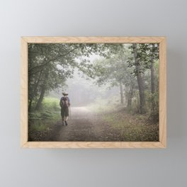 Camino to Santiago de Compostela Framed Mini Art Print