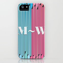 Man and Woman Creative Artwork iPhone Case