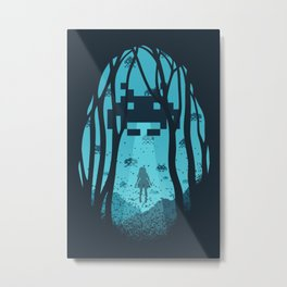 8 Bit Invasion Metal Print