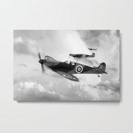 Supermarine Spitfire Mk I BW Metal Print