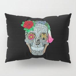 Lady Skull ready to party Pillow Sham