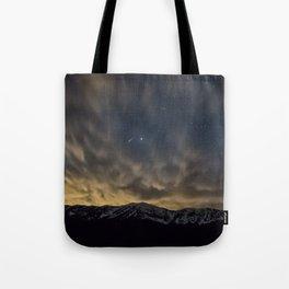 Meteor Over The Bridgers Tote Bag