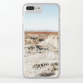 enjoy desert view in summer at Red Rock Canyon, California, USA Clear iPhone Case