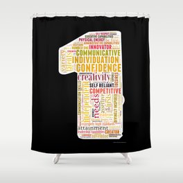 Life Path 1 (black background) Shower Curtain