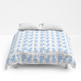 Blue Bell and Cloud Comforters