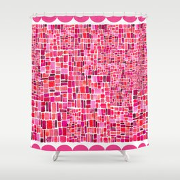 ALL THE PINKS Shower Curtain