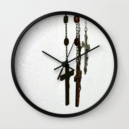 Silhouetted Faith Wall Clock