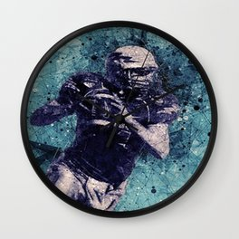 Football Player Wall Clock