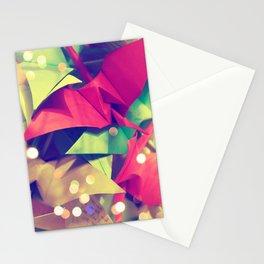 Senbazuru | pink and green Stationery Cards