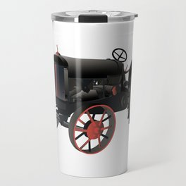 Black and Red Old Tractor Travel Mug