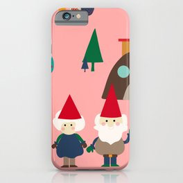 gnome pink iPhone Case