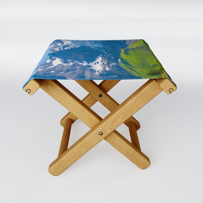 Alpine Scenery Folding Stool