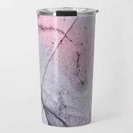 Urban Pink and Grey Marble Pattern Travel Mug