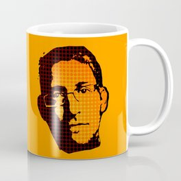 EDWARD SNOWDEN - orange Coffee Mug