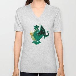 Green dragon Unisex V-Neck