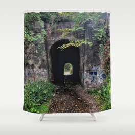 The Screaming Tunnel Shower Curtain