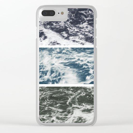 SaltWater Tryptych Variation II Clear iPhone Case