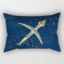 Sagittarius Zodiac Sign Rectangular Pillow
