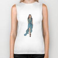 dress Biker Tanks featuring Sea Dress by Fatima khayyat