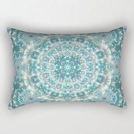 Sapphire Star Mandala Rectangular Pillow
