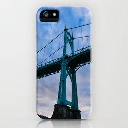 St. Johns Bridge, Gothic Tower iPhone Case