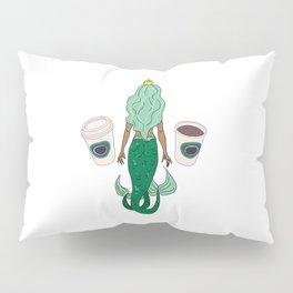 Mermaid Coffee Butt Dark - Fast Food Butts Pillow Sham