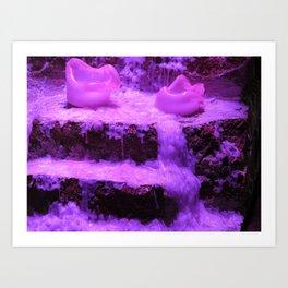 Burnin' Purple Art Print